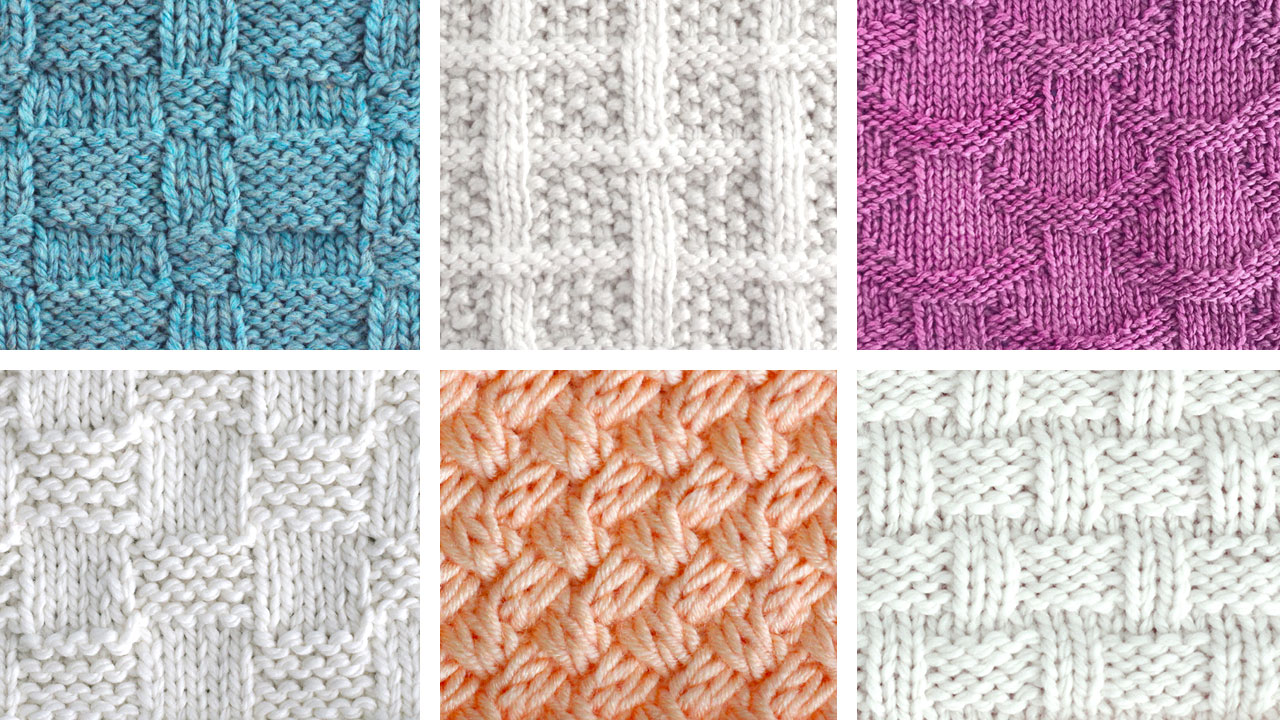 Knit Basketweave Stitch Variations