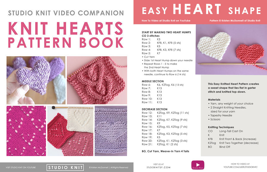 Cover of Knit Hearts Pattern Book by Studio Knit