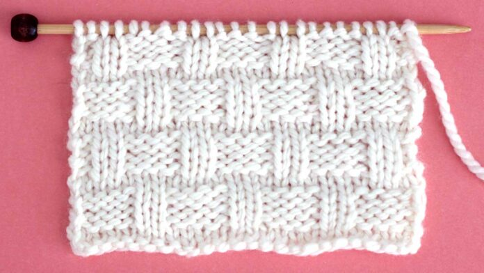 Classic Basket Weave Stitch Knitting Pattern