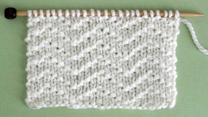 Chevron Seed Knit Stitch Pattern