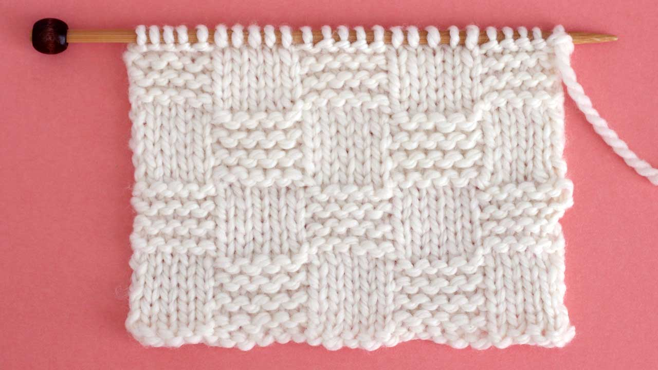 Garter Checkerboard Stitch Knitting Pattern