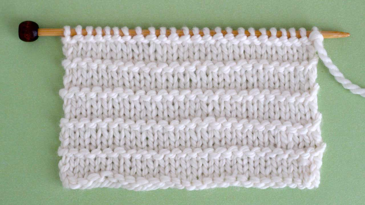 Purl Ridge Knit Stitch Pattern