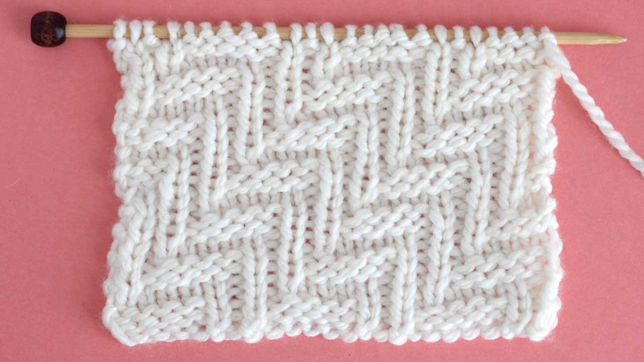 Diagonal Chevron Zigzag Stitch Knitting Pattern