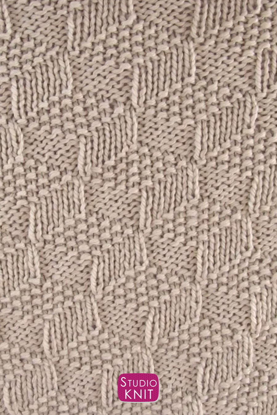 Knitted Blanket in Tumbling Moss Blocks Stitch