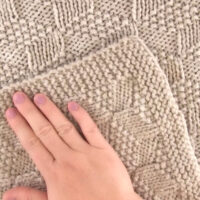 Knitted Blanket in Tumbling Blocks Pattern