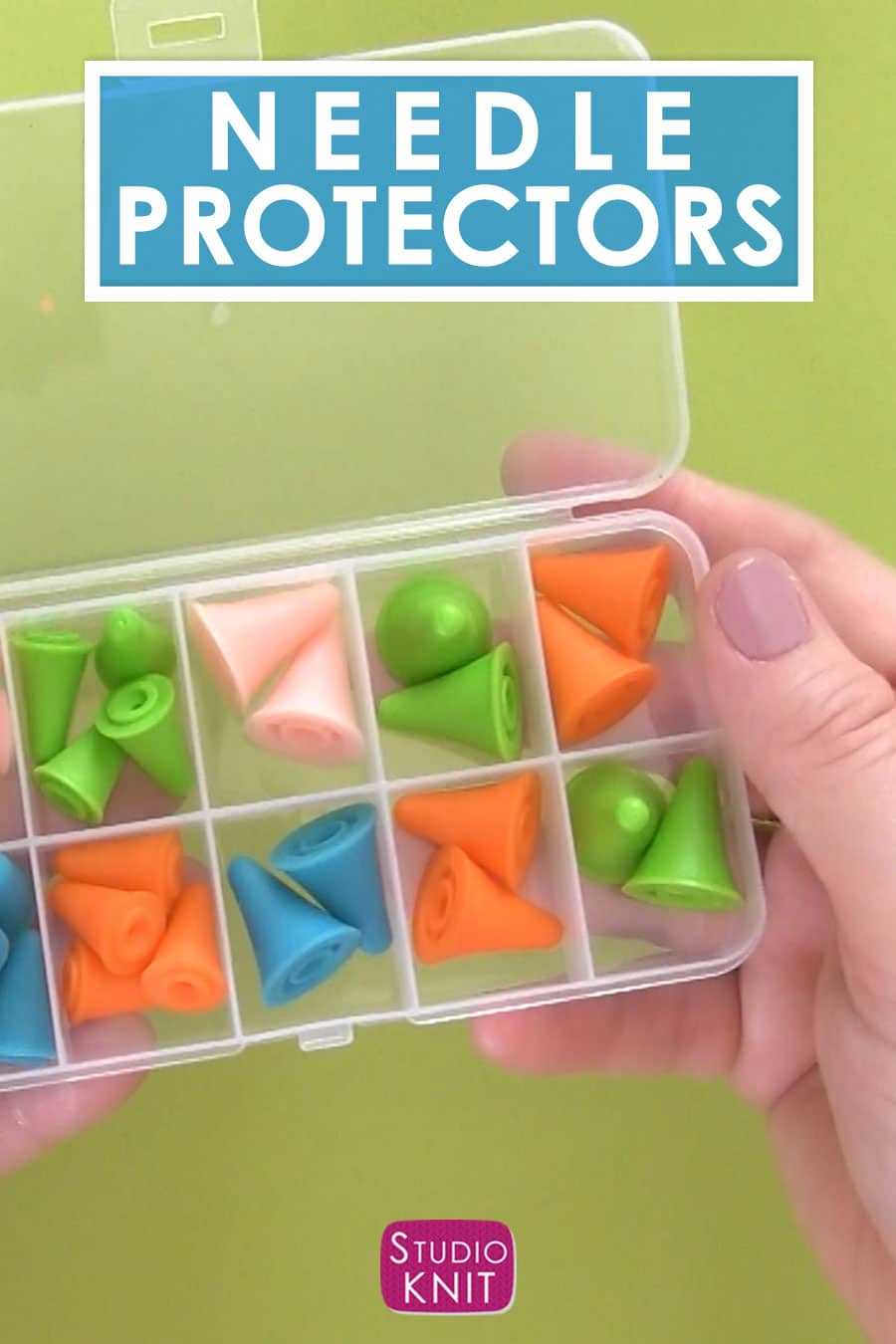 Knitting Needles Point Protectors to keep stitches in place