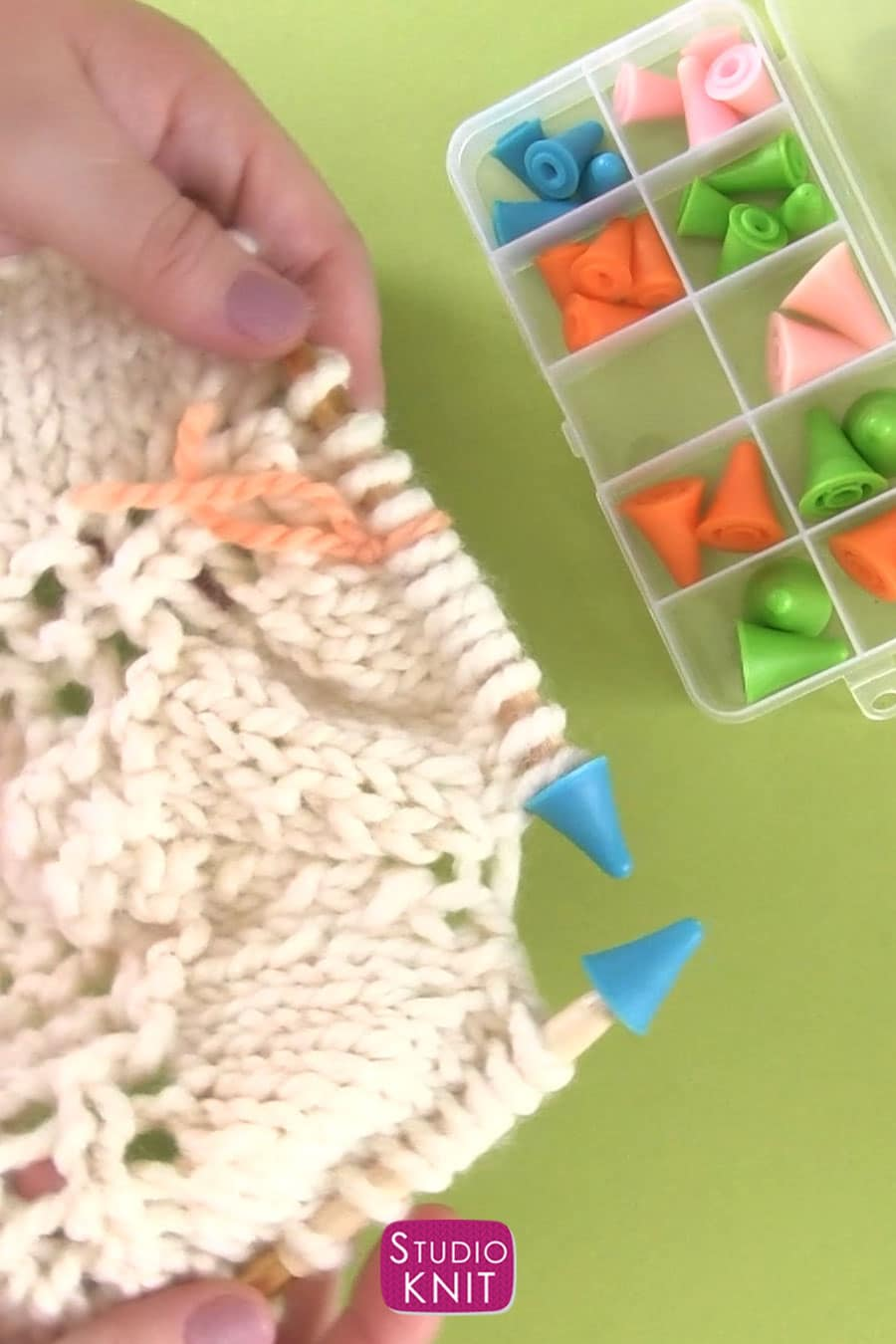 Knitting Needle Point Protectors help prevent knitting mistakes