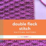 Double Fleck Knitting Pattern in Purple Yarn.