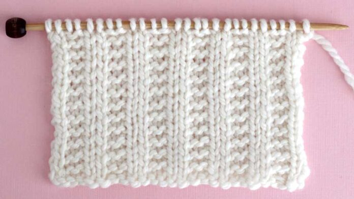 Garter Ribbing Stitch Knitting Pattern