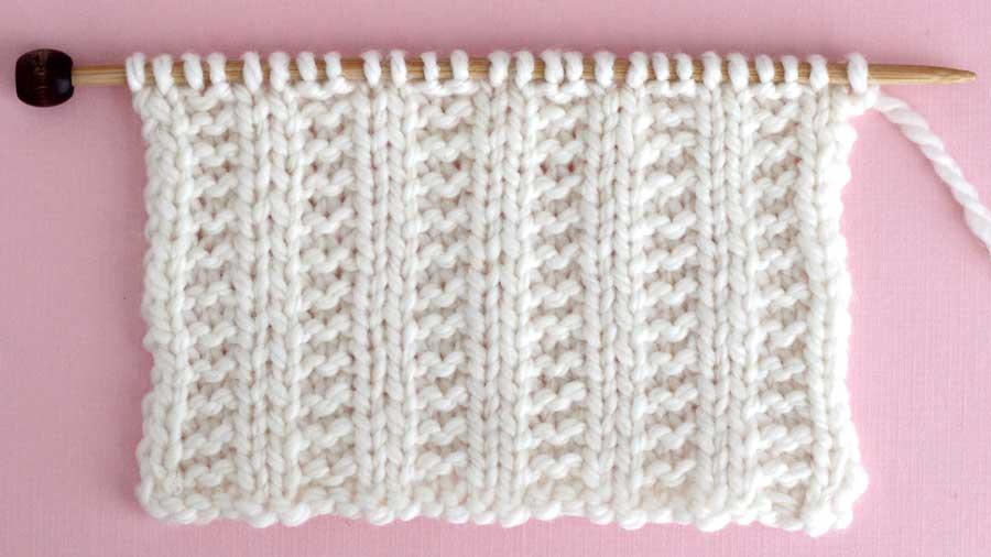 Garter Ribbing Stitch Knitting Pattern