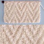 Chevron Rib Knit Stitch Pattern