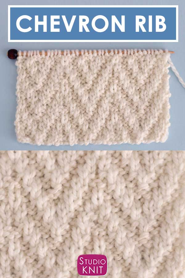 Chevron Rib Knit Stitch Pattern