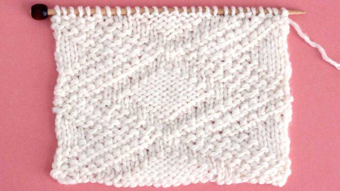 Fancy Diamond Stitch Knitting Pattern
