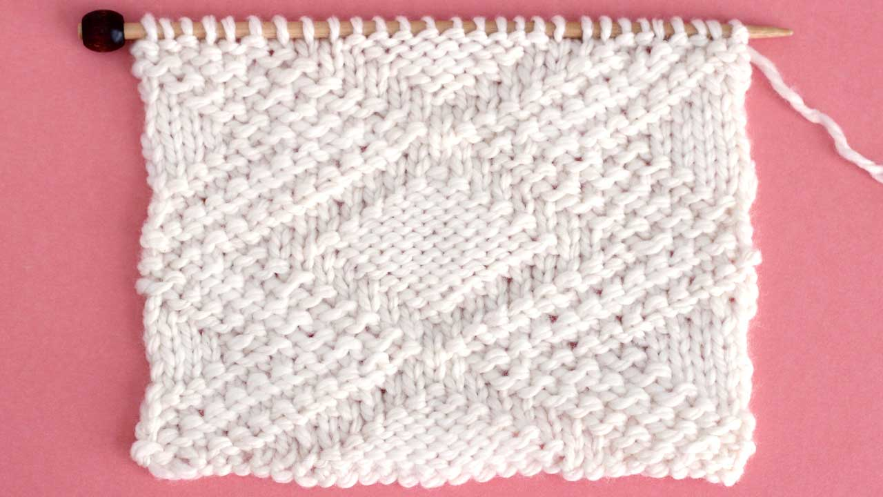 Fancy Diamond Stitch Knitting Pattern