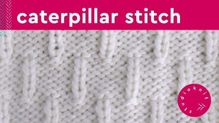 Caterpillar Stitch Knitting Pattern for Beginners