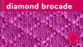 Diamond Brocade Knit Stitch Pattern
