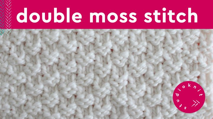 Double Moss Stitch Knitting Pattern for Beginners | Studio ...