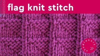 Flag Stitch Knitting Pattern