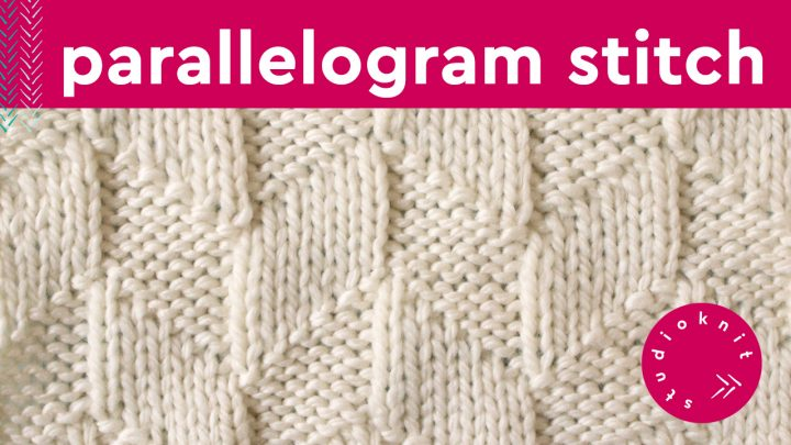 Parallelogram Stitch Knitting Pattern for Beginners