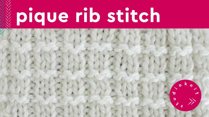 Pique Rib Stitch Knitting Pattern for Beginners