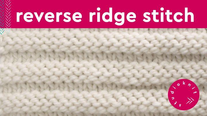 Reverse Ridge Stitch Knit Pattern