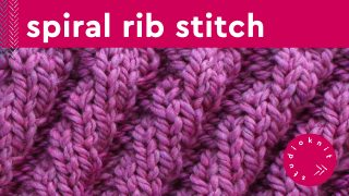 Diagonal Spiral Rib Stitch Knitting Pattern