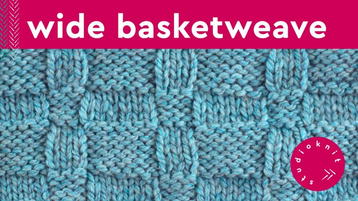 Wide Basket Weave Stitch Knitting Pattern for Beginners