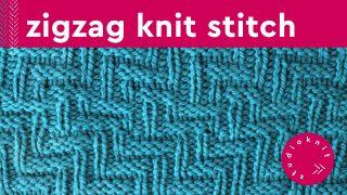 Diagonal Chevron Zigzag Knit Stitch Knitting Pattern