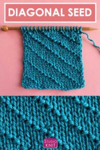 The Diagonal Seed Stitch Knitting Pattern
