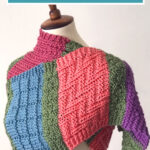 Easy Color Block Scarf Knitting Pattern