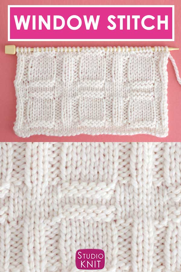 Window Stitch Knit Stitch Pattern