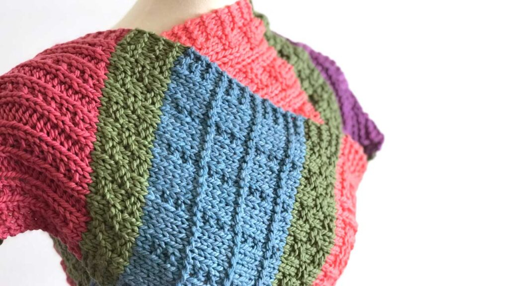 Colorful Easy Color Block Scarf Knitting Pattern