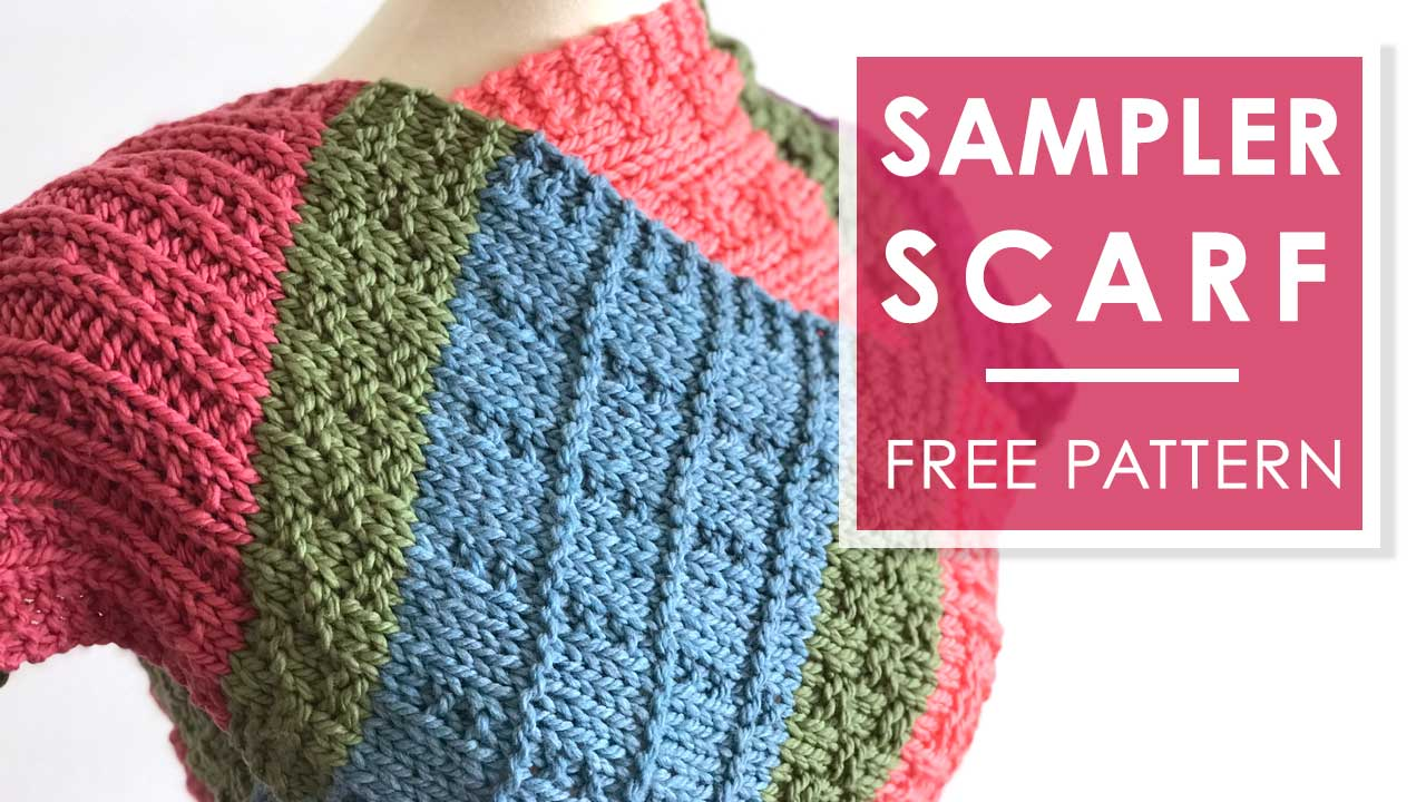Free Easy Color Block Scarf Knitting Pattern