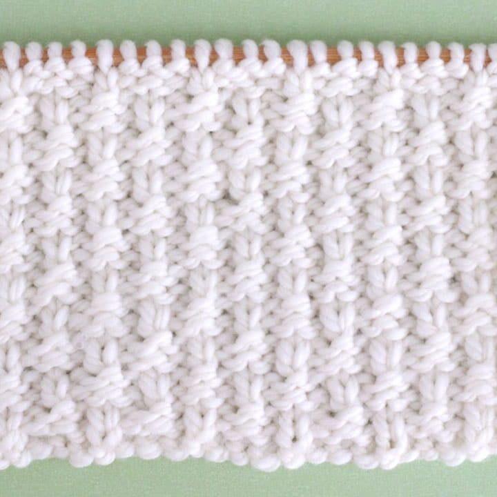 Little Raindrops Stitch Knitting Pattern