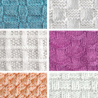 Collection of Basket Weave Knit Stitch Patterns