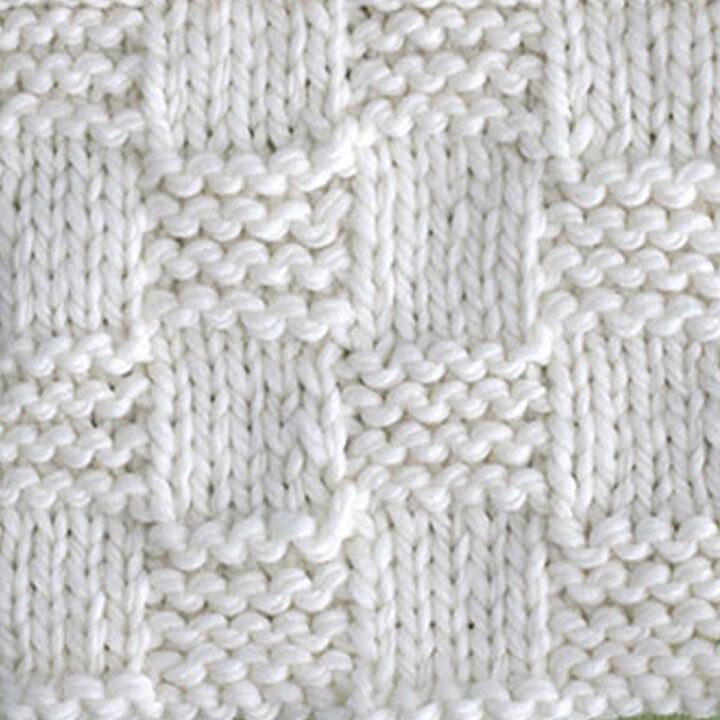 Garter Checkerboard Stitch Printable Knitting Pattern