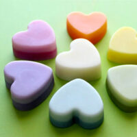Heart Shaped Solid Lotion Bars.