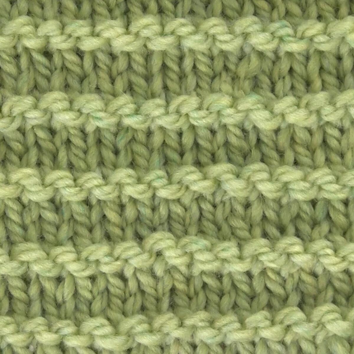 Purl Ridge Knit Pattern Texture in green yarn color.