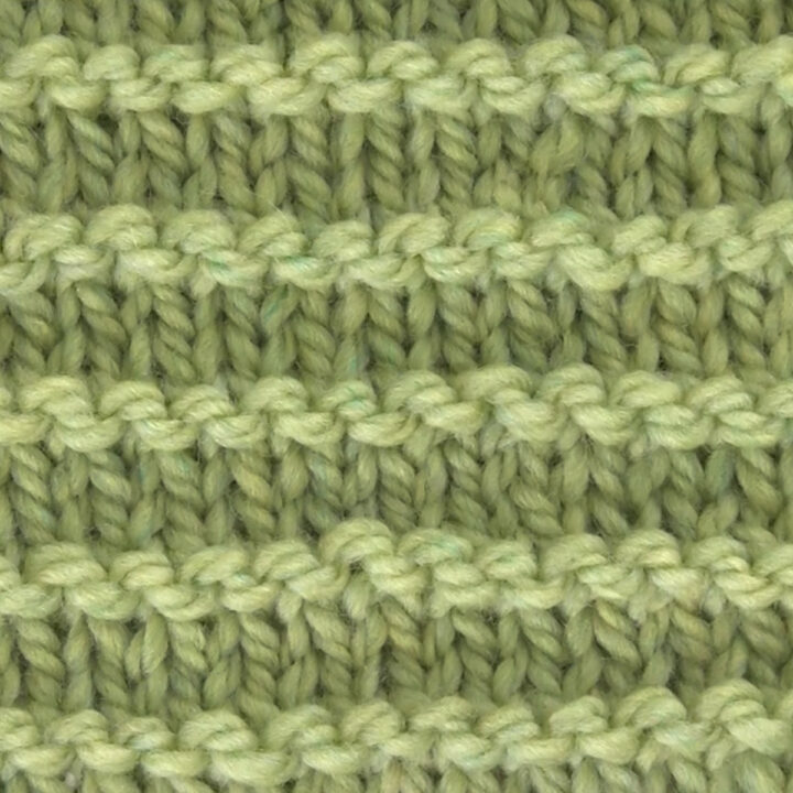 Purl Ridge Knit Pattern Texture in green yarn color.