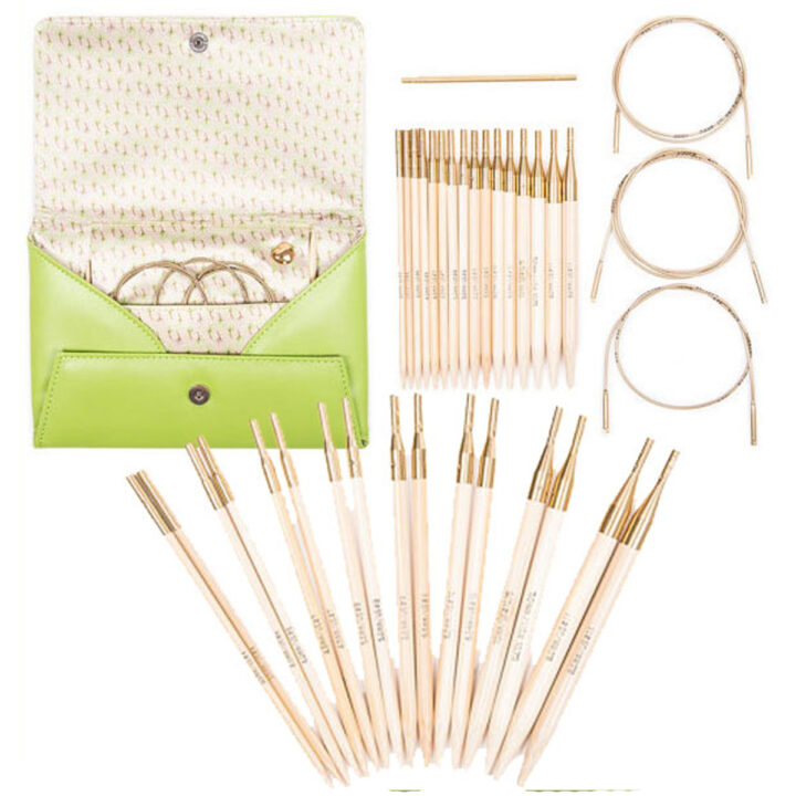 Addi-Click interchangable circular knitting needle set.