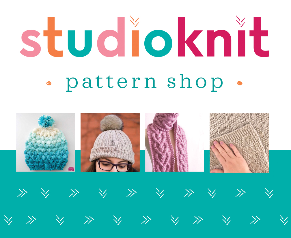 Studio Knit Pattern Shop with knitting downloads for sale.