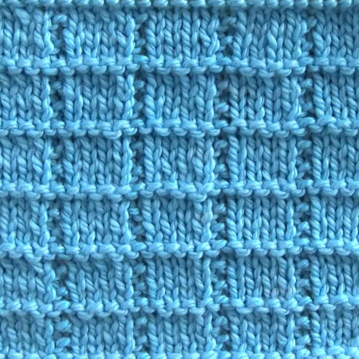 Tile Squares Stitch Printable Knitting Pattern